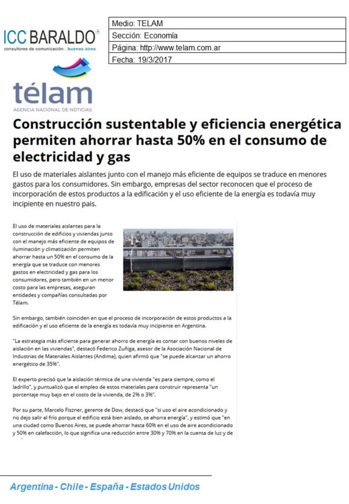 Construcción sustentable y eficiencia energética permiten ahorrar hasta 50% en el consumo de electricidad y gas